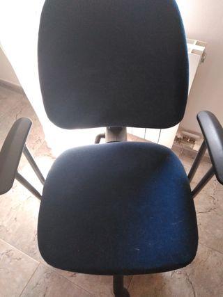 silla escritorio color azul marino en tela