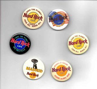 Chapas Hard Rock Cafe variadas