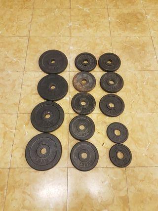 Discos pesas 2€/kg o cambio x discos 5,10,15,20