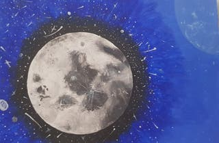 Moon | Galaxy | Space | Star drawing