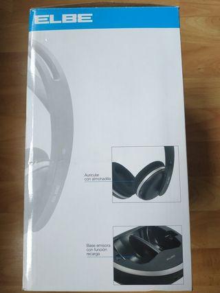 Auriculares inalámbricos con base recargable