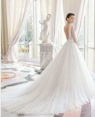 d9f9d59ce1 Vestido de novia Rosa Clara de segunda mano en Zaragoza en WALLAPOP
