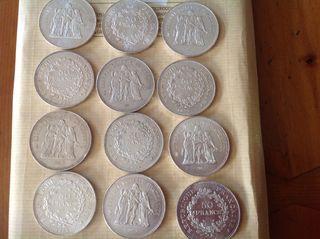 Monedas de 50 Francos 30 gramos plata de buena ley
