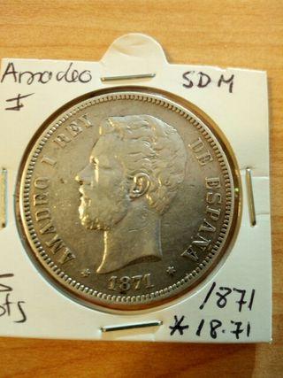 moneda antigua Amadeo I