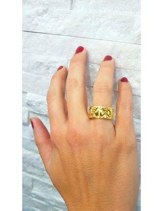 71c2b78d4809 Anillo oro mujer de segunda mano en WALLAPOP