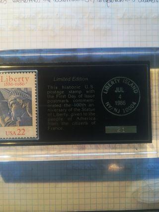 Sello edición limitada de la estatua de la liberta