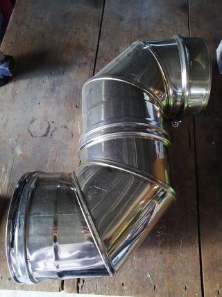 2 codos de inox 304\300 de diametro
