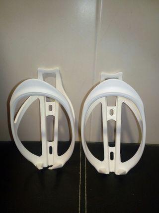 2 x Portabidon plastico blanco