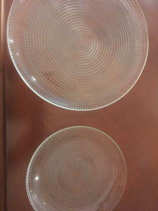 Vajilla platos cristal transparente