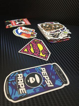 50 pegatinas decoración coche o moto