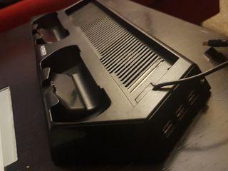 BASE PS4 PRO + 3 USB + CARGADOR MANDOS + VENTILADO
