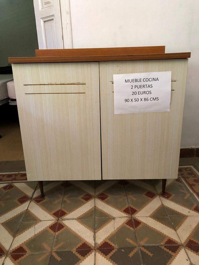 MUEBLE DE COCINA VINTAGE DE SUELO de segunda mano por 20 ...