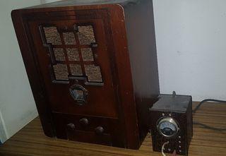 radio antigua madera marca garod