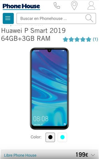 Huawei p smart 2019 modelo de 64GB