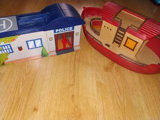 lote Playmobil arca y comisaria