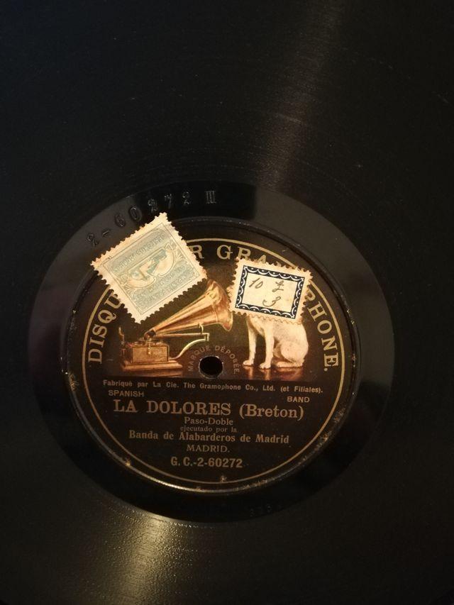 La Dolores. Disco pizarra para gramófono
