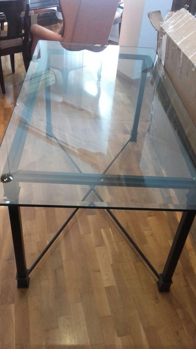 Mesa de cristal para salón - comedor de segunda mano por 190 € en ...
