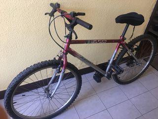 Bicicleta de montaña con cambios.