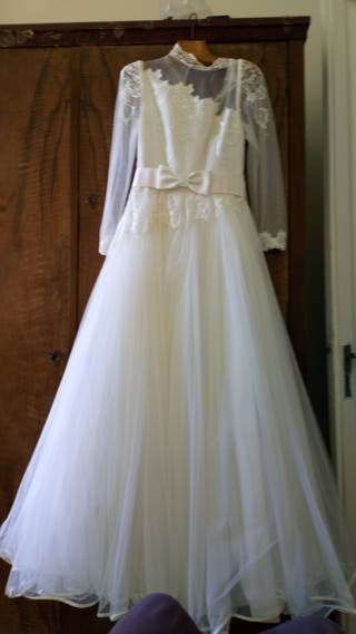 289a6cb736 Vestido de novia de segunda mano en WALLAPOP