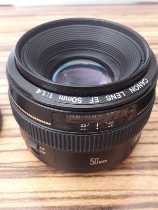 Objetivo Canon 50 mm 1.4