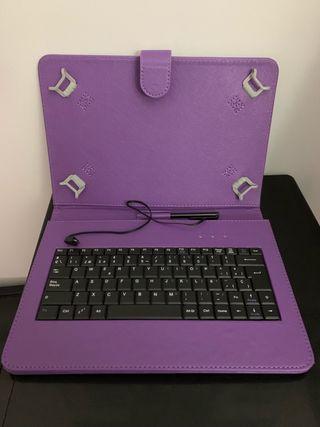 Funda con teclado Tablet 9, 10, 11 pulgagas
