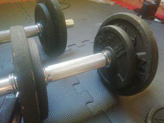 kit de pesas de gimnasio