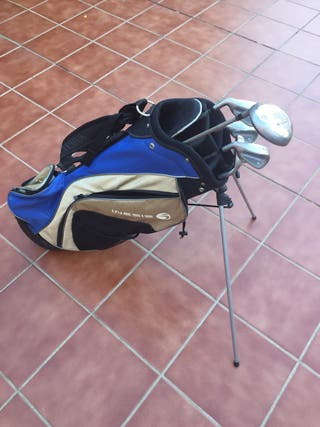 Bolsa y palos de golf mujer zurda
