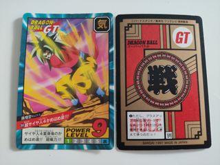 Cartas Dragon Ball GT Bandai