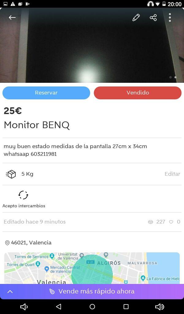 MONITOR BENQ Rebajado