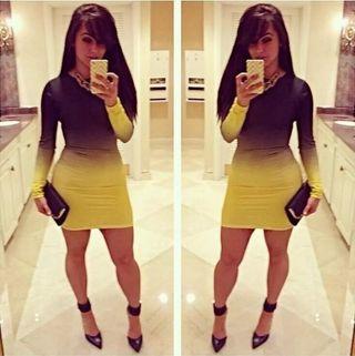 Vestido 2 colores talla L