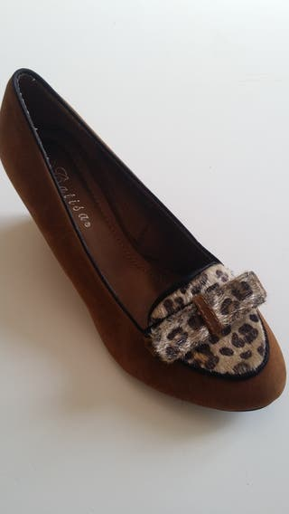 Chaussures léopard T.39 TBE
