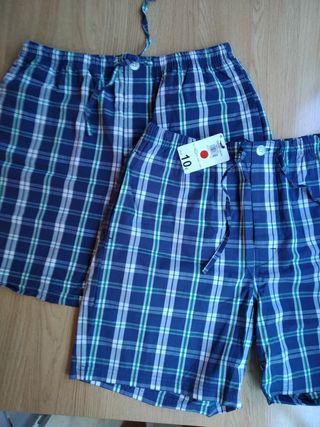 2 pantalones de pijama T4 con etiqueta