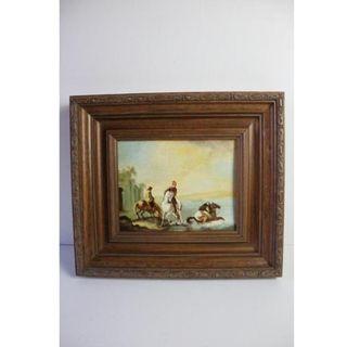 Antiguo cuadro óleo sobre tabla