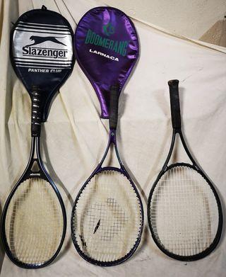 Lote 3 raquetas tenis prince, boomerang, slazenger
