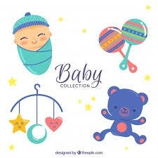 juguetes y ropa para bebé
