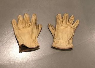paire de gants en cuir naturel pour hommes T. 9,5