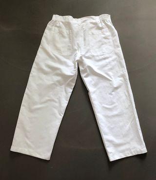 Pantalon Blanc 100% coton T. L - XL Blanc du Nil