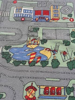 Alfombra infantil carreteras