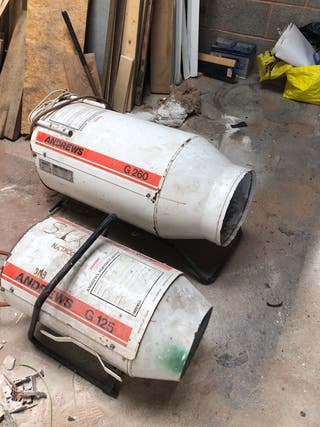 Andrews gas blow heaters x 2