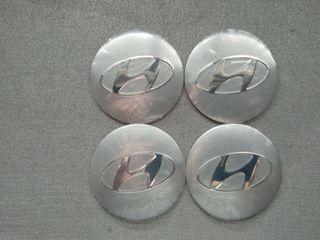 Pegatinas tapabujes centro rueda Hyundai gris