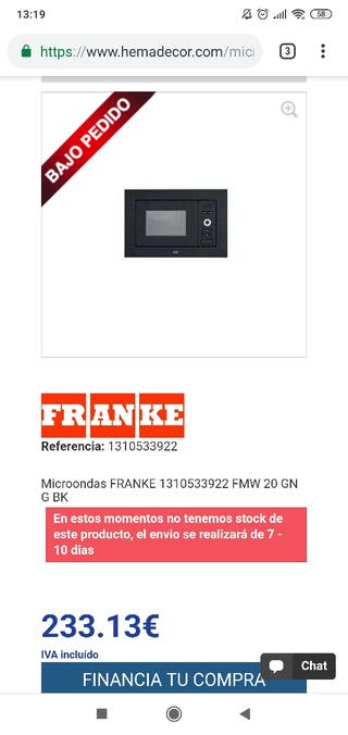 microondas integrable franke