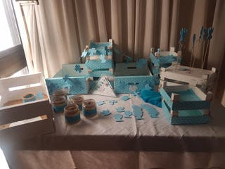 Set decoración mesa de chuches comunión o bautizo