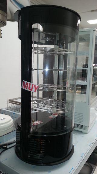 Vitrina cilindrica vertical pasteleria