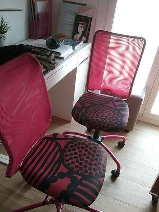 Dos sillas para escritorio