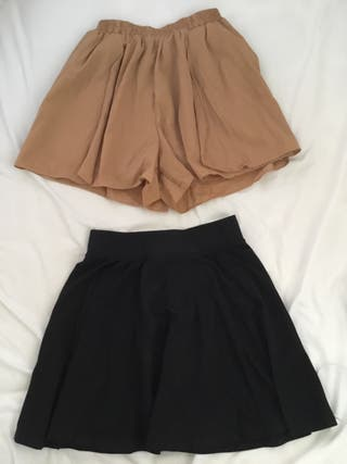 Falda y falda pantalón