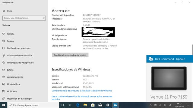 Dell Venue 11 pro 7139 Tableta/portátil windows second hand