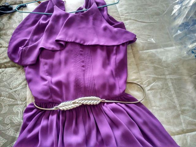 vestido lila tintoretto