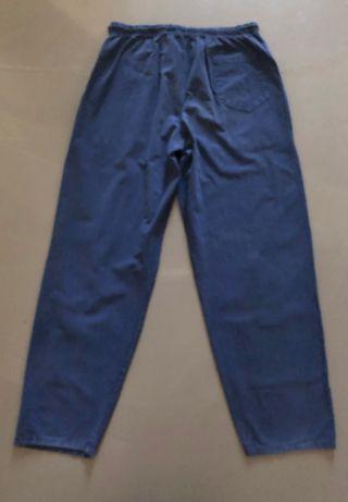 Pantalon en coton léger marine taille élastique