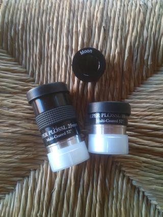 oculares súper plossl 10 y25mm.filtro lunar gratis