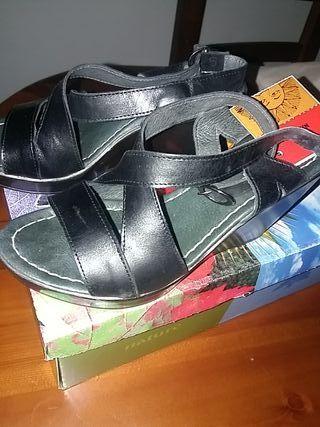 zapatos de piel Natura